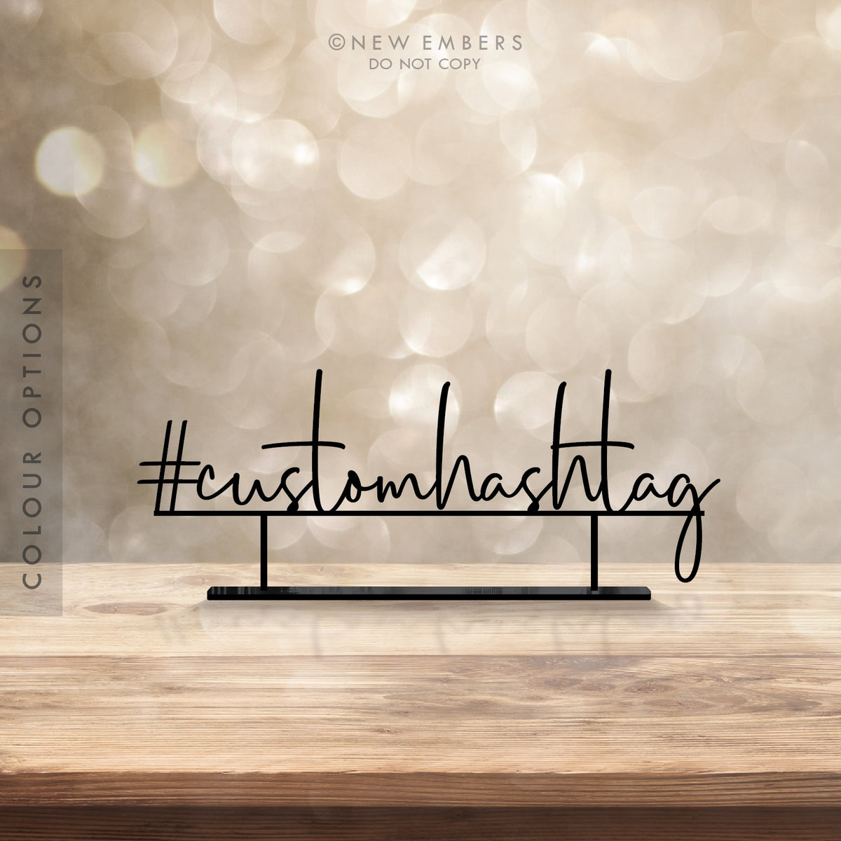 Custom Wedding Hashtag Signs - Australia