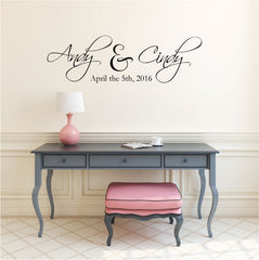 Custom Wedding Vinyl Wall Decal Australia