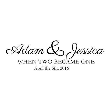 Wedding Quote | Custom Wedding Wall Sticker Quote Names And Dates Fixate