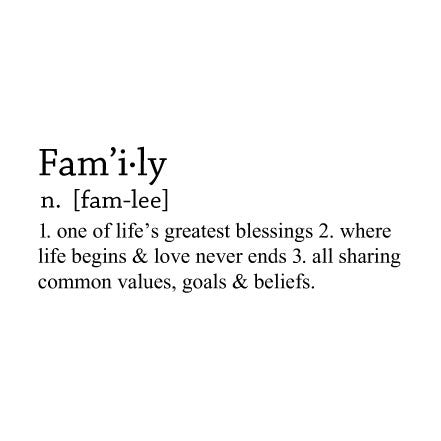 Family Dictionary Definition Wall Sticker Quote Fixate Stunning Quotes Definition