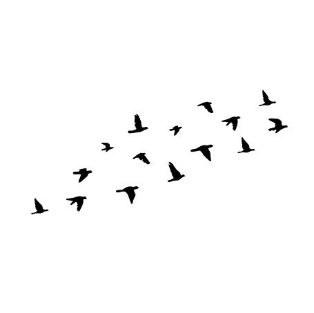 Wall Decal Design Flock Of Flying Birds Fixate