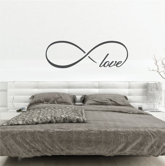 Bedroom Wall Sticker Quote Infinity Love Symbol Fixate