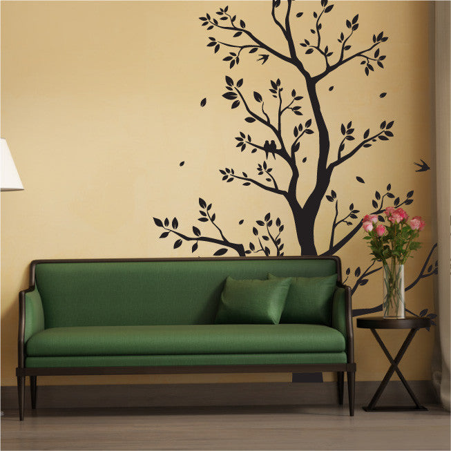 Large Tree Wall Sticker With Leaves, Branches U0026 Flying Birds ... Part 91