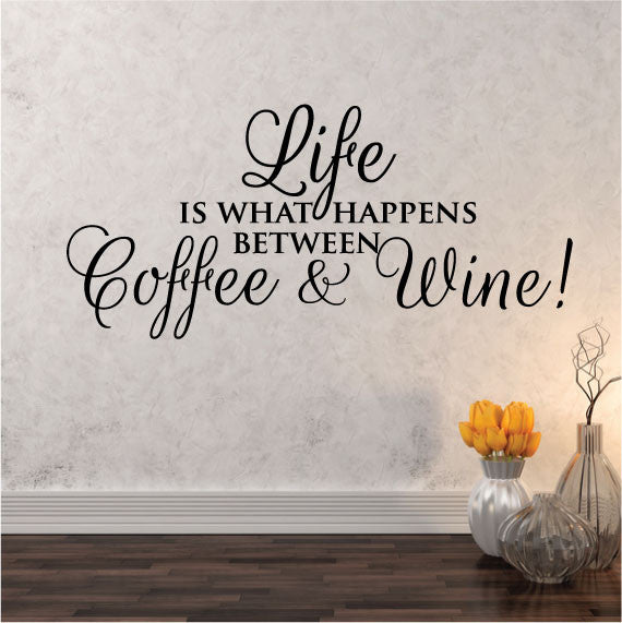 coffee bar quote wall decals stickers highest quality wall decal
