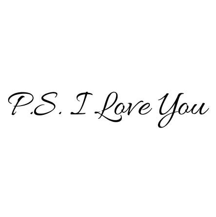 Ps I Love You Quotes Magnificent Wall Sticker Love Quote PS I Love You Fixate