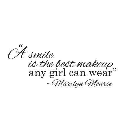 Wall Sticker Quote A Smile Best Makeup Marilyn Monroe Fixate
