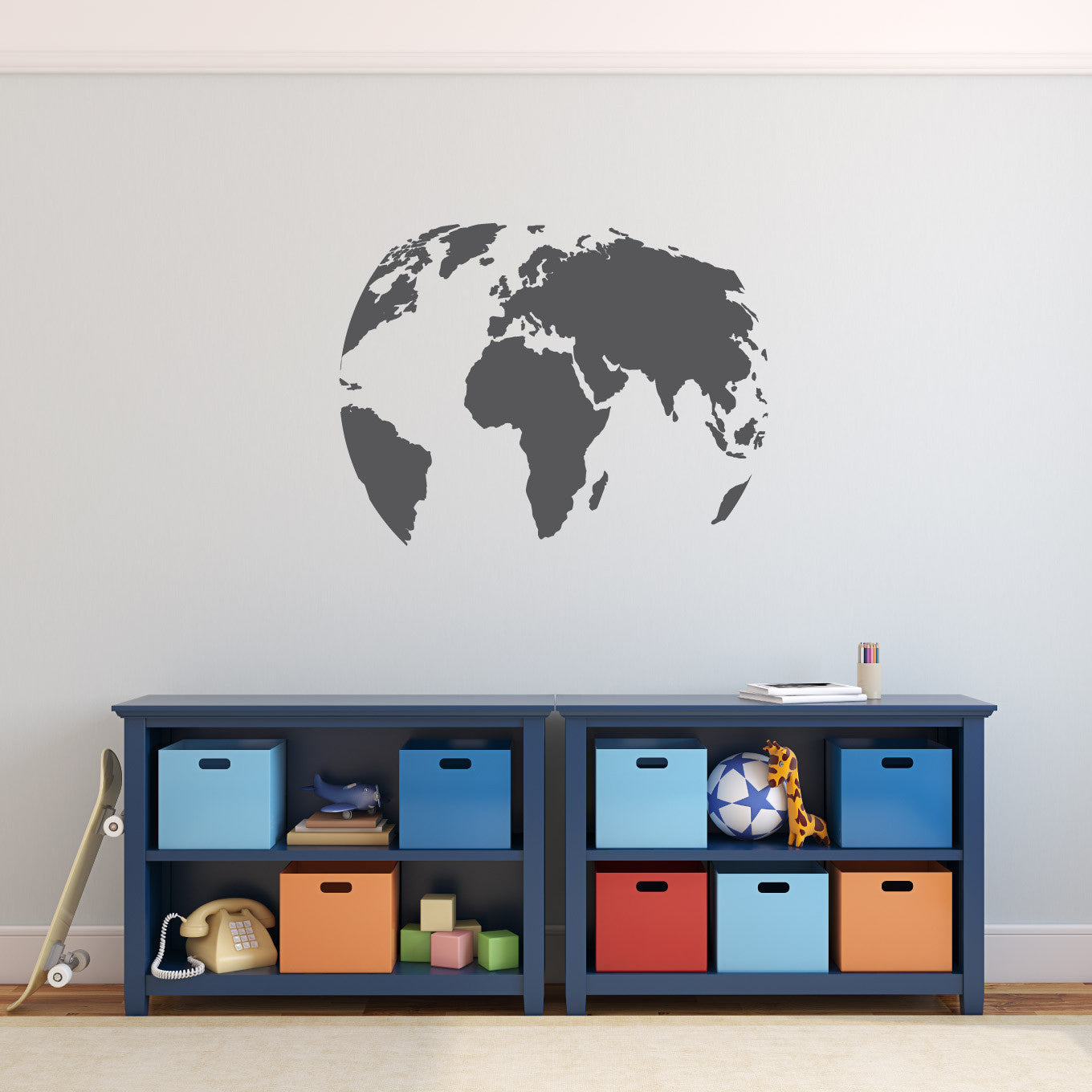 Wall decal world globe design wall decals australia fixate wall decal world map globe design gumiabroncs Image collections