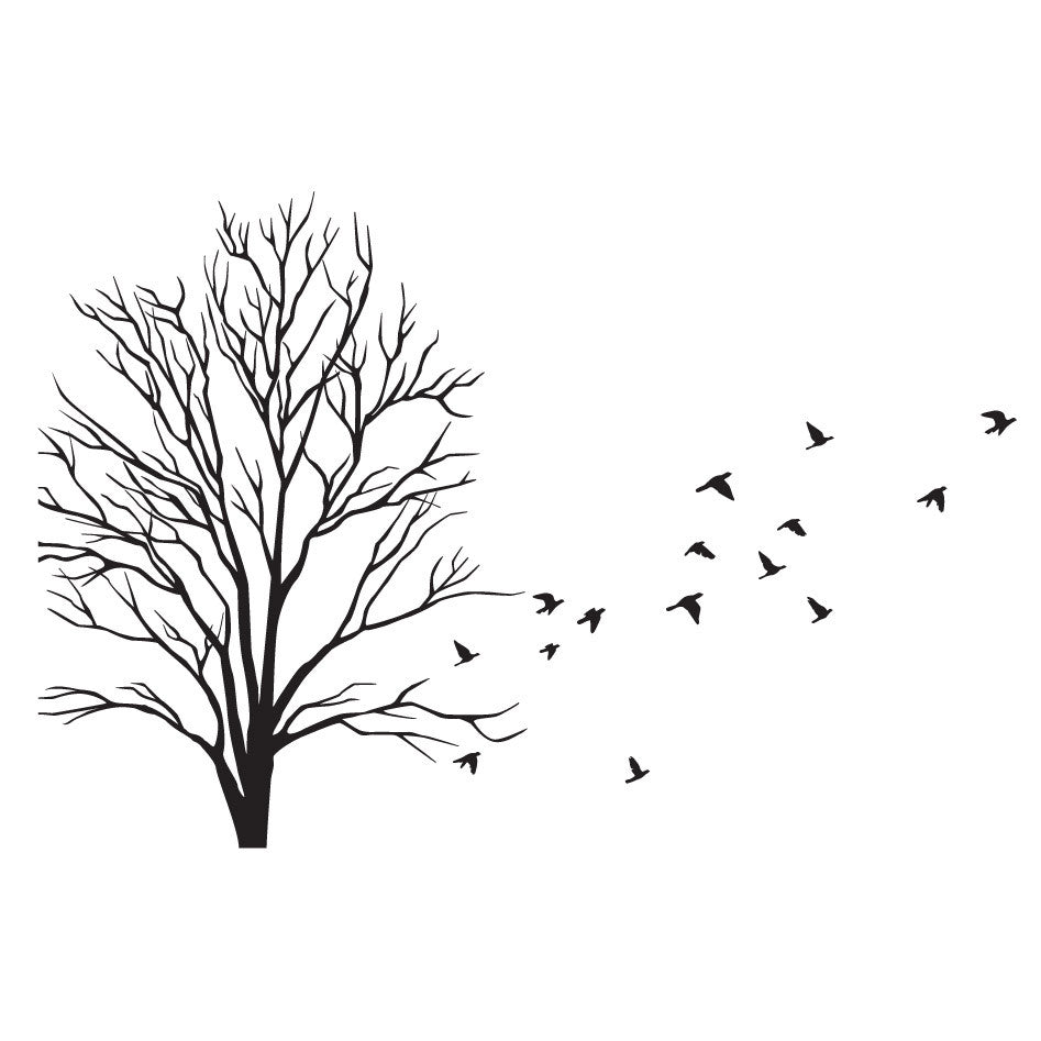 Small Wall Decal Tree Design Birds Wall Decals Australia Fixate