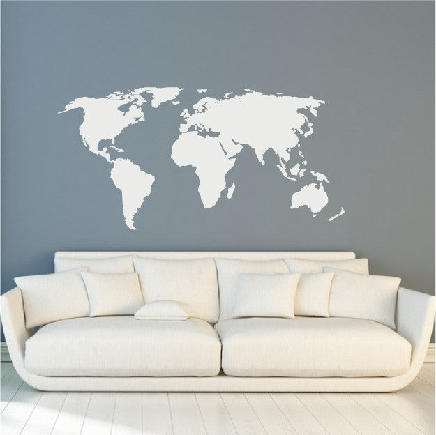 Map of the world vinyl wall decal design fixate world map globe wall decal design travel dcor gumiabroncs Image collections