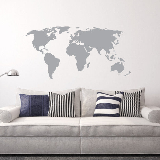 Map of the world vinyl wall decal design fixate world map globe wall decal design travel dcor gumiabroncs Gallery