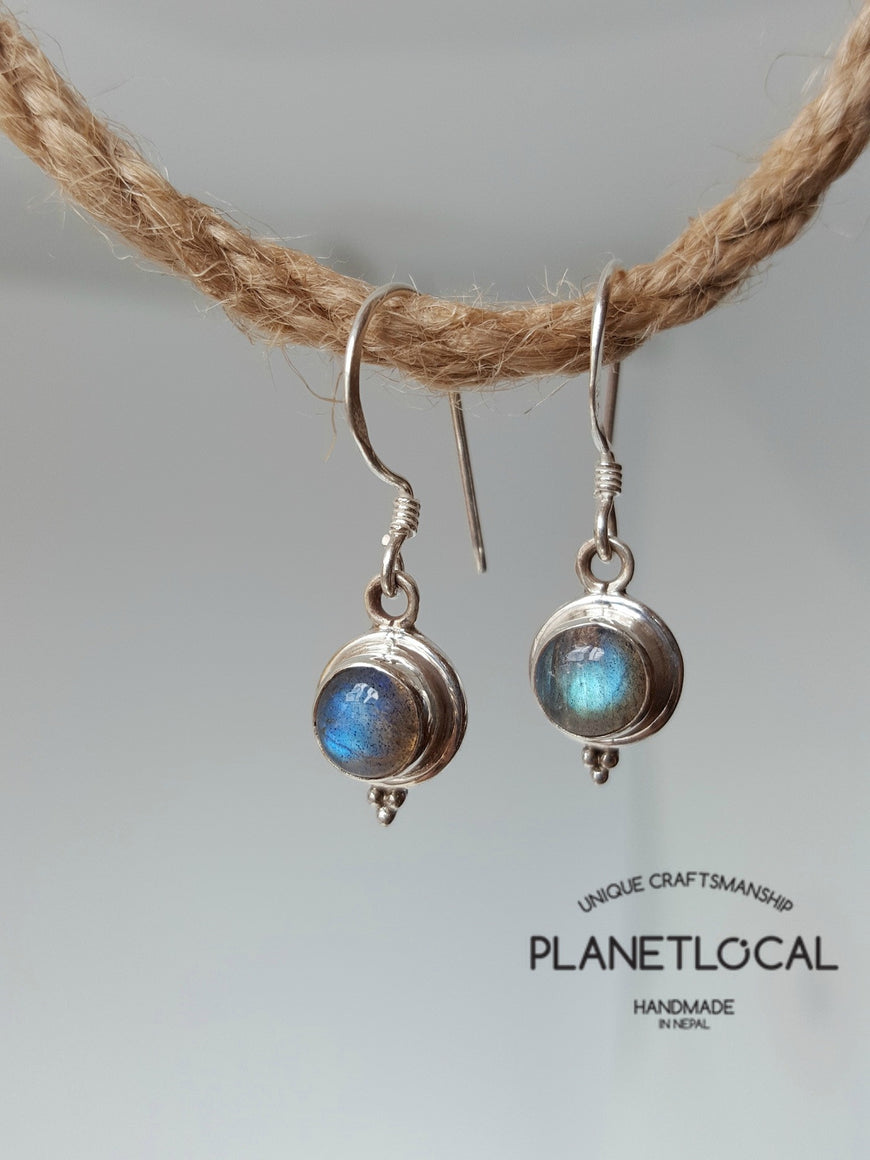 Round Dangly - Handmade 925 Sterling Silver Earrings - PLANETLOCAL (3)