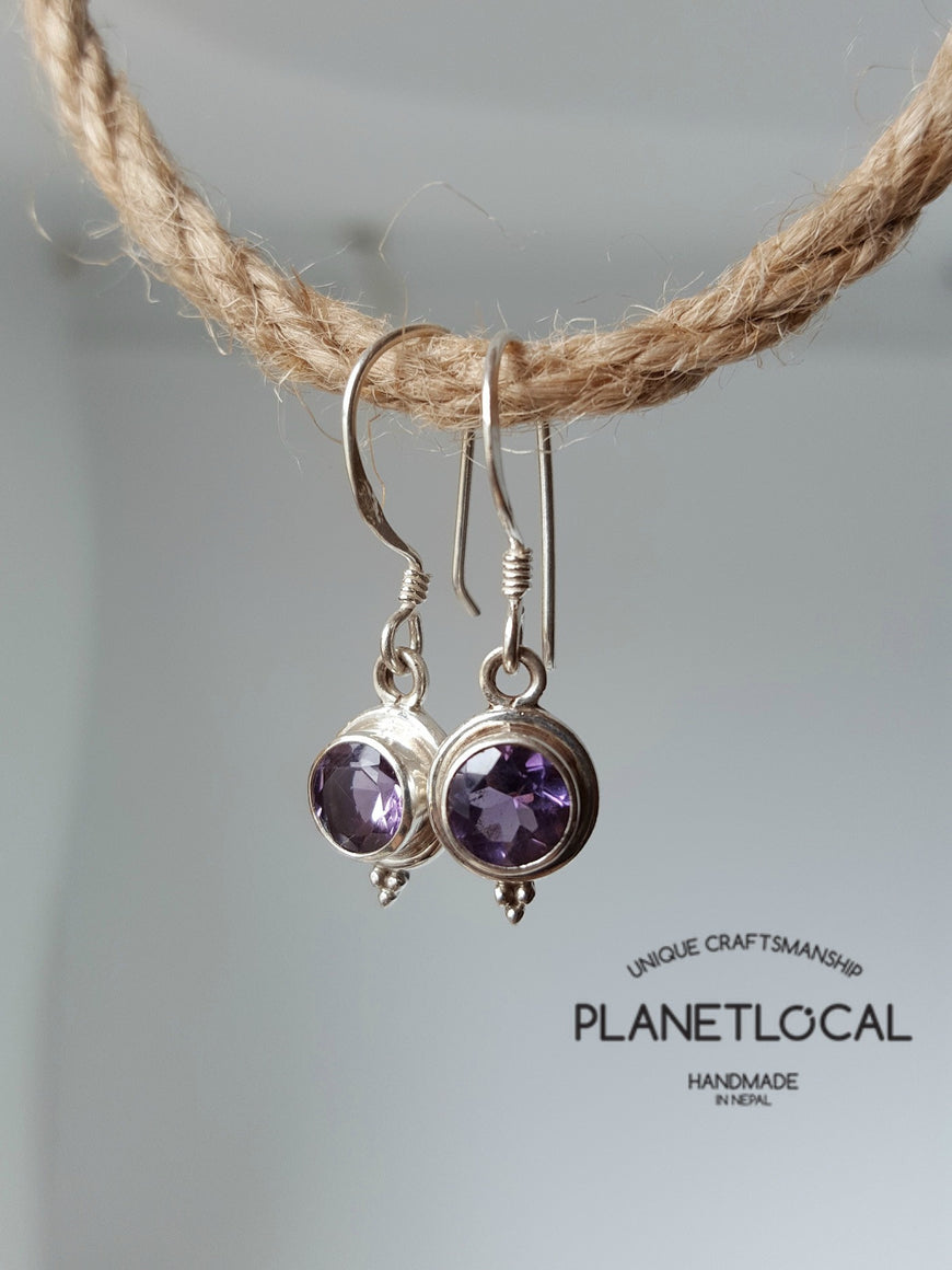 Round Dangly - Handmade 925 Sterling Silver Earrings - PLANETLOCAL (8)