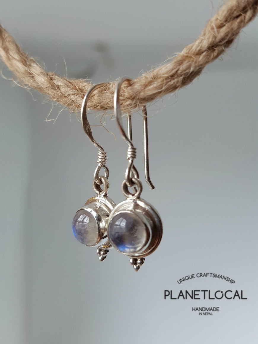 Round Dangly - Handmade 925 Sterling Silver Earrings - PLANETLOCAL (4)