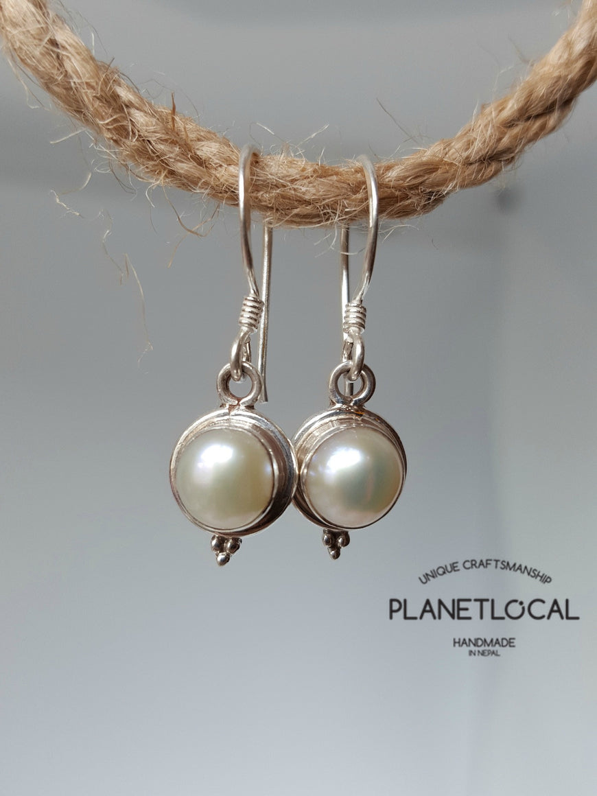 Round Dangly - Handmade 925 Sterling Silver Earrings - PLANETLOCAL (7)