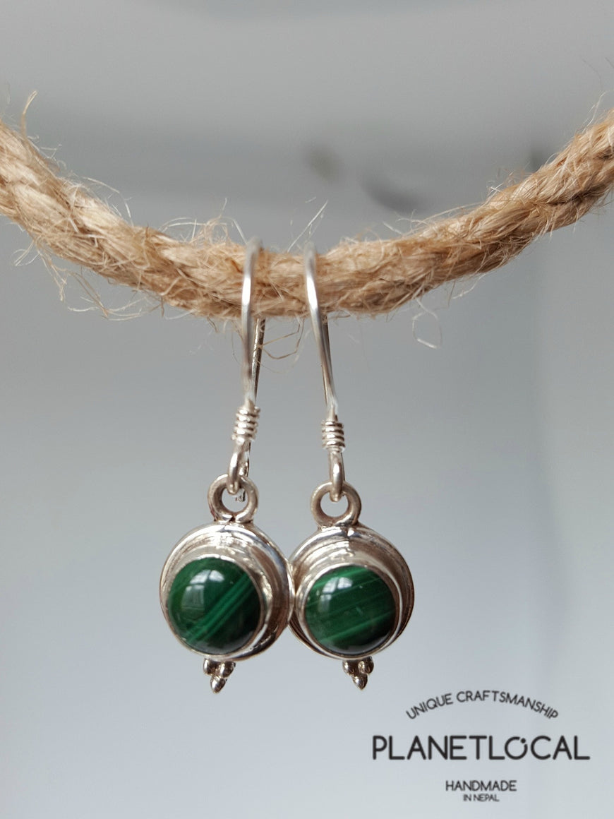 Round Dangly - Handmade 925 Sterling Silver Earrings - PLANETLOCAL (5)