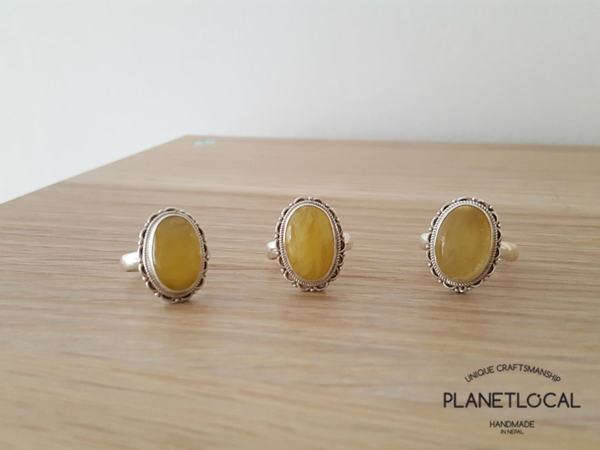 AMBER ring on 925 Sterling Silver - PLANETLOCAL (18)