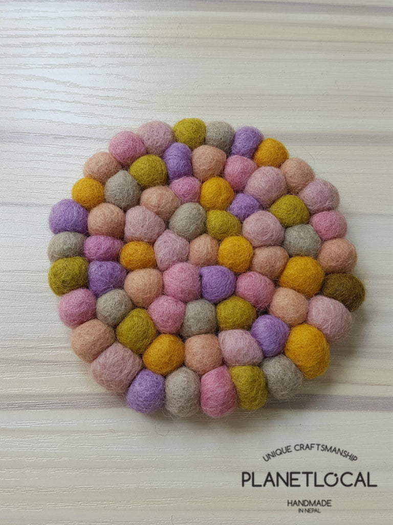 Unique Felt Ball Coaster