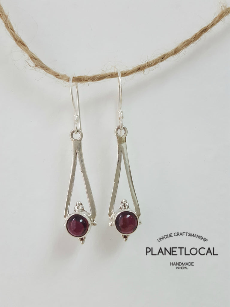 LEAF- Handmade 925 Sterling Silver Earrings - PLANETLOCAL