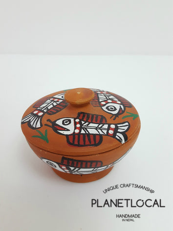 Mithila Art Products - Ceramic Jewelry Pot - PLANETLOCAL