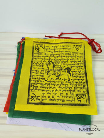 Premium Quality Cotton Windhorse Prayer Flags - PLANETLOCAL