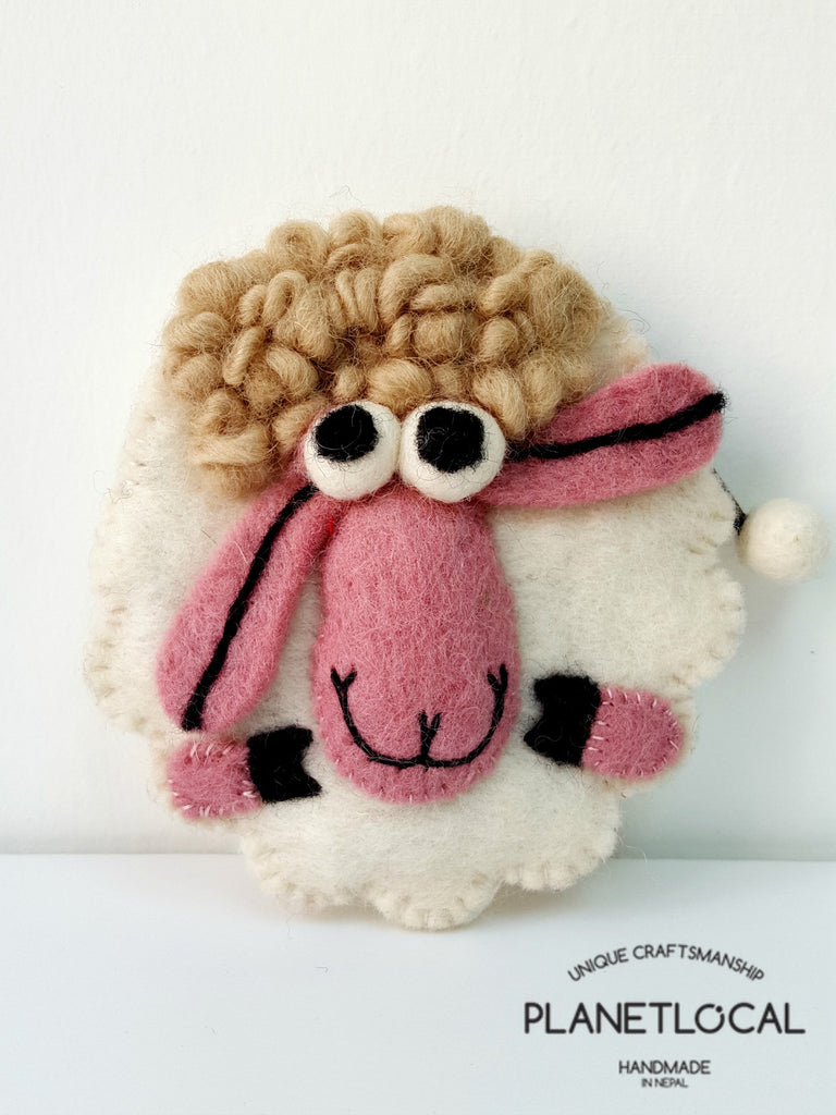 SHEEPY- Soft Felt Small Money Purse - PLANETLOCAL