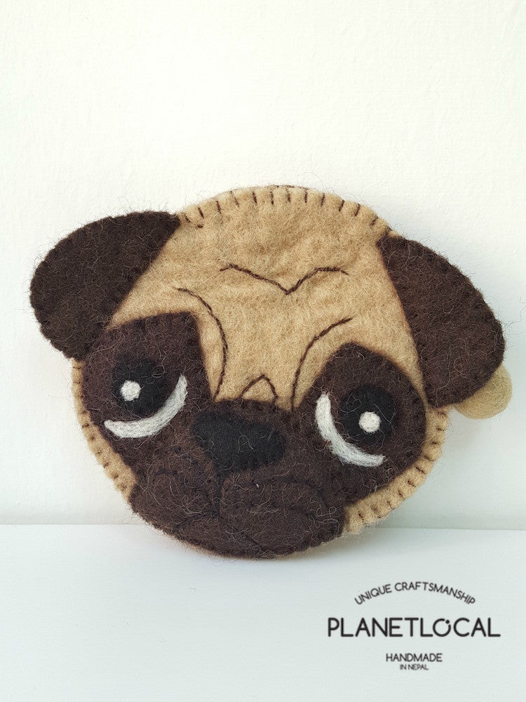 PUGGY- Cute Felt Small Money Purse (1)