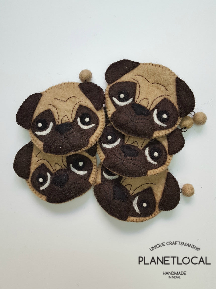 PUGGY- Cute Felt Small Money Purse (4)