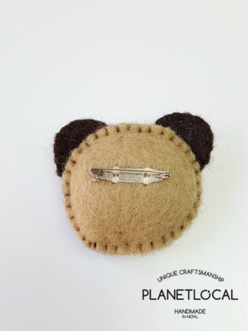 PUGGY- Cute Felt Brooch Pin