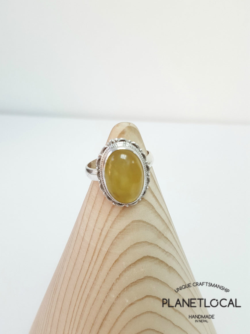 AMBER ring on 925 Sterling Silver - PLANETLOCAL (4)