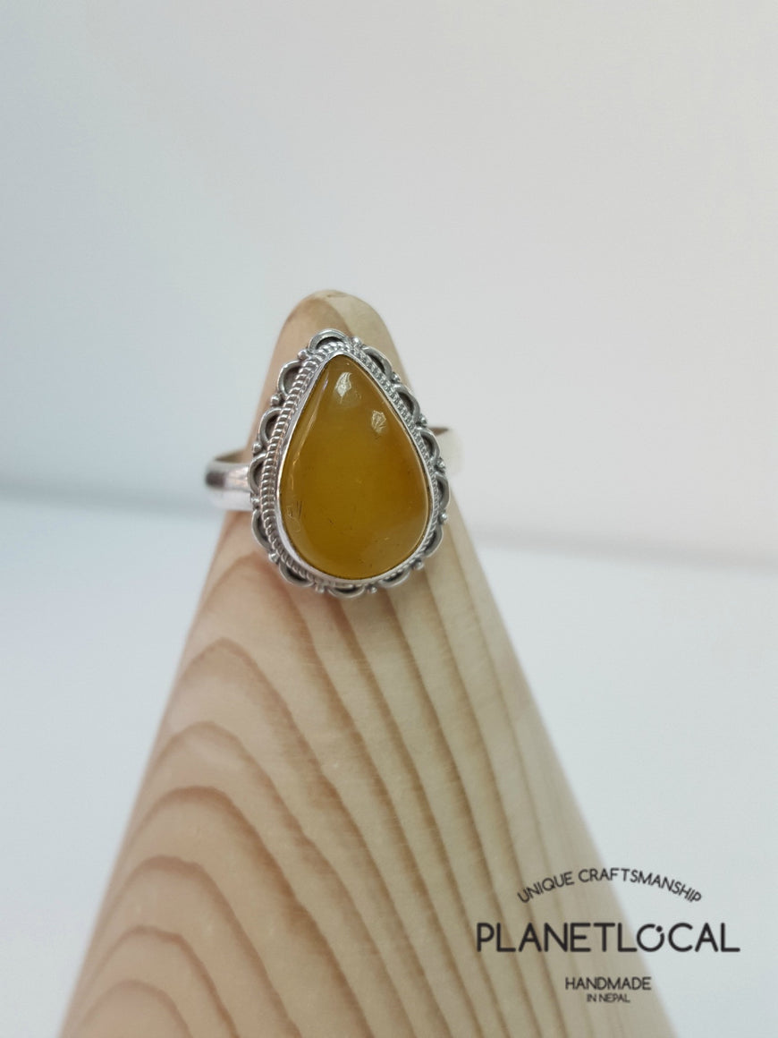 AMBER ring on 925 Sterling Silver - PLANETLOCAL (16)