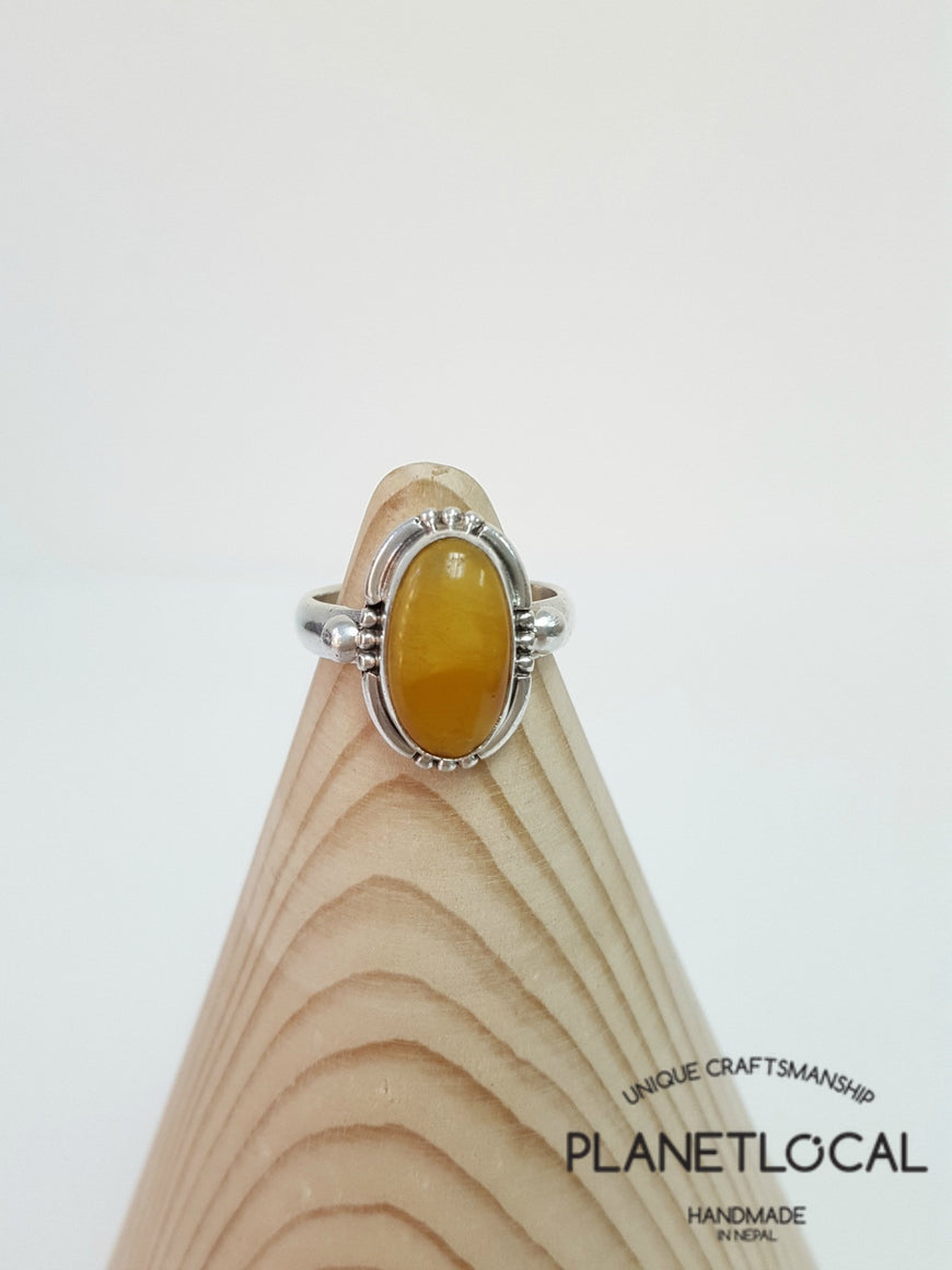 AMBER ring on 925 Sterling Silver - PLANETLOCAL (6)