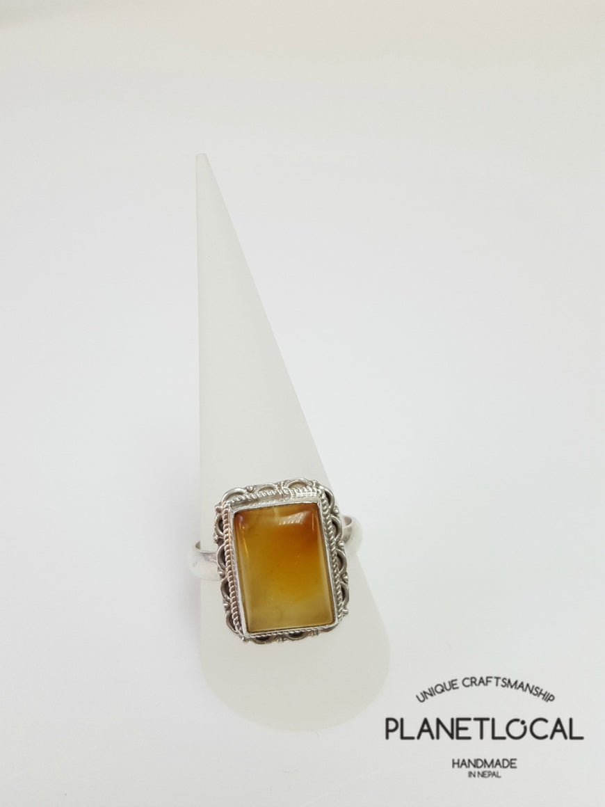 AMBER ring on 925 Sterling Silver - PLANETLOCAL (13)