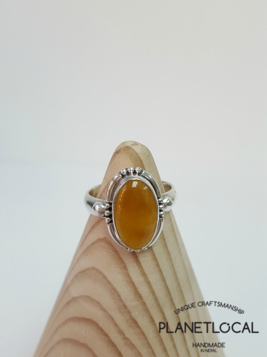 AMBER ring on 925 Sterling Silver - PLANETLOCAL (10)