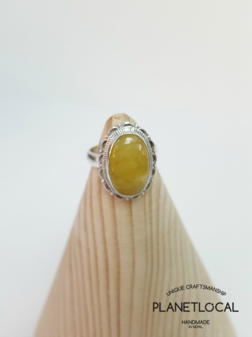 AMBER ring on 925 Sterling Silver - PLANETLOCAL (14)