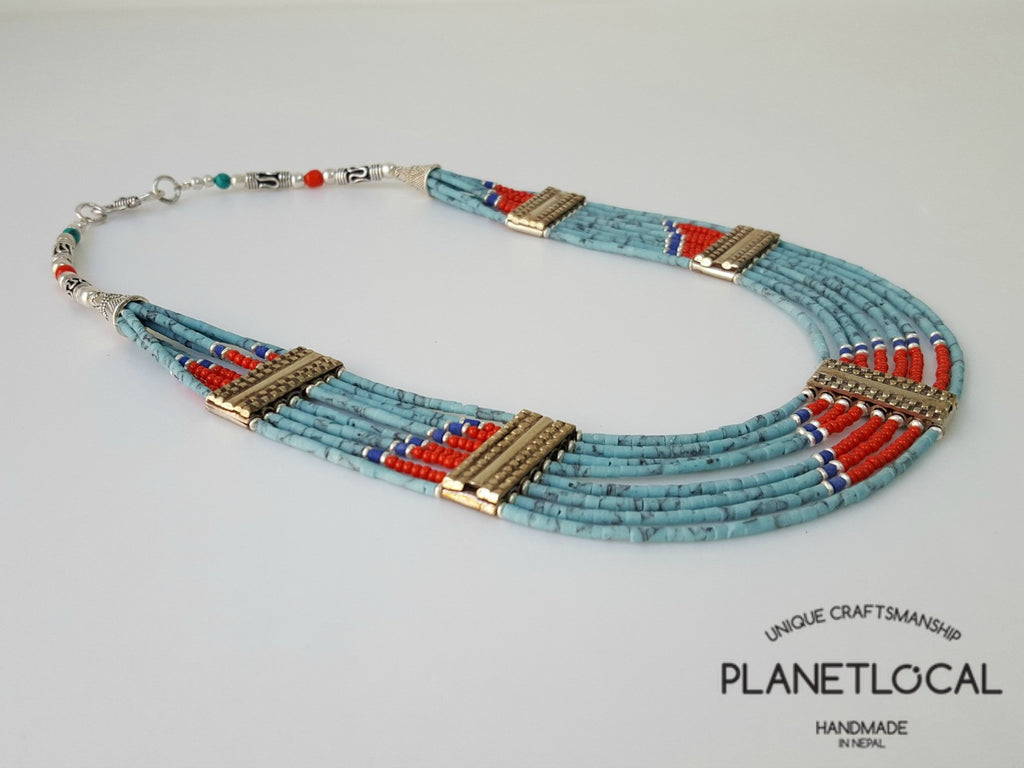 Limited Edition 8 Lane Torquoise Necklace - PLANETLOCAL