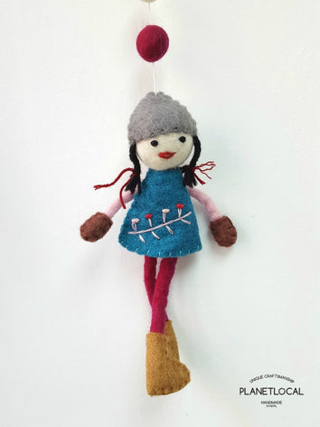 Handmade Dolly Wall Hanging Decor