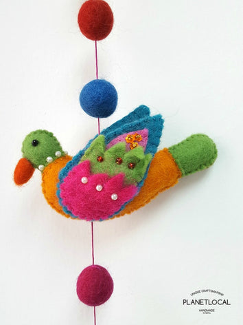Felt Bird Wall Hanging Decor