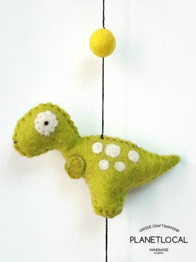 Felt Dinosaur Wall Hanging Decor