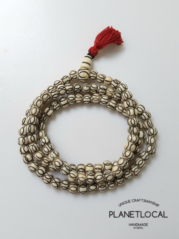 108 buddhist bone prayer mala bead (approx 6mm)
