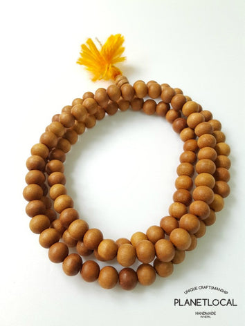 108 buddhist Sandalwood prayer mala bead
