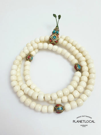 108 buddhist bone prayer mala bead