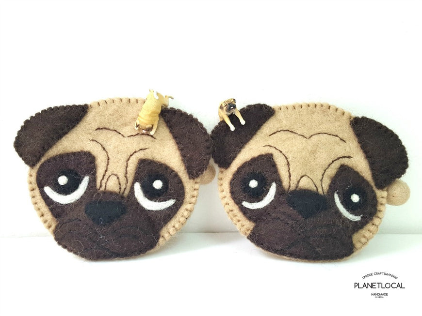 PUGGY- Cute Felt Small Money Purse (3)