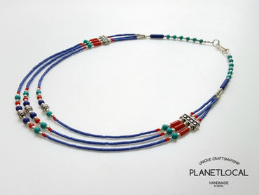 LAPISLIFE- Assorted 3 line Handmade Necklace