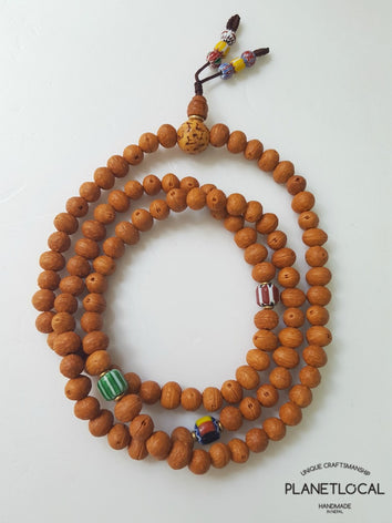 108 Buddhist 8mm Raktu Seeds Mala Prayer Bead