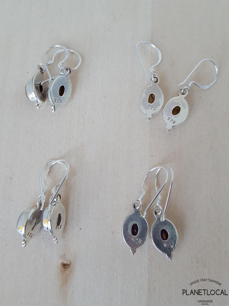 POINT- Handmade 925 Sterling Silver Earrings - PLANETLOCAL