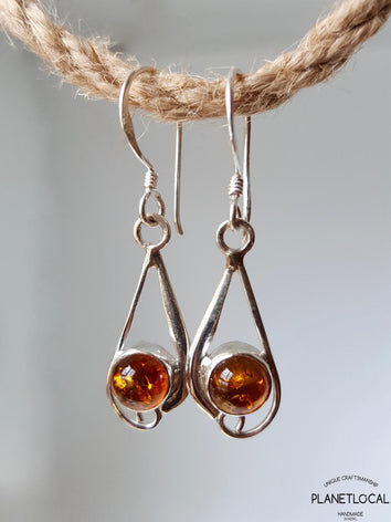 DROP- Handmade 925 Sterling Silver Earrings - PLANETLOCAL