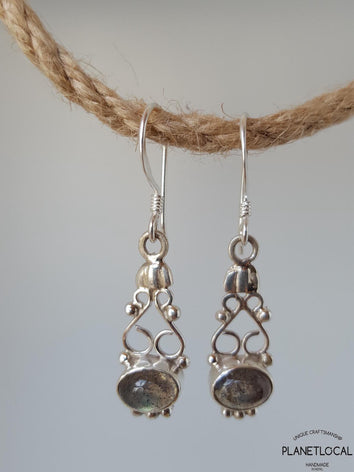 JHUMKA- Handmade 925 Sterling Silver Earrings - PLANETLOCAL