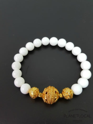 Special Edition - Handmade Copper Gold Plated with Conch Shell Beads Bracelet