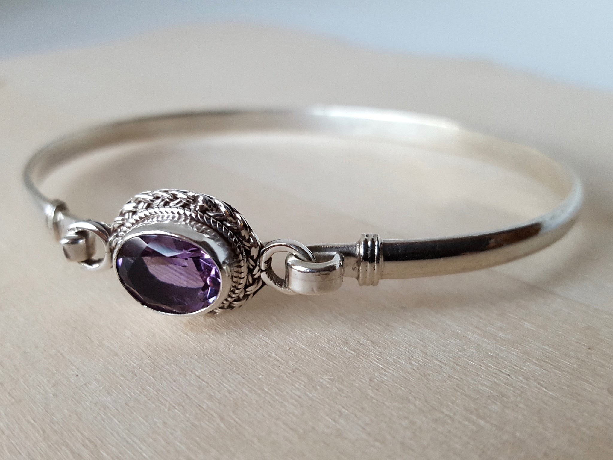 amethyst jewellery bangle mackintosh silver bangles sterling rennie