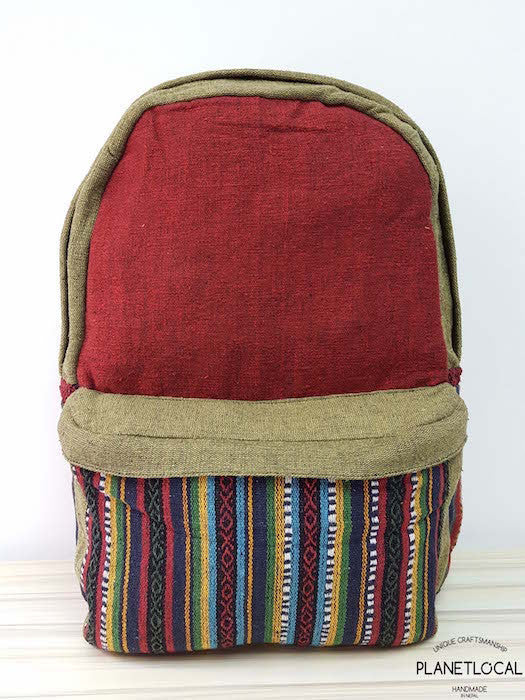 JILIMILI-1 Handmade tribal patterned organic cotton backpack - PLANETLOCAL (2)